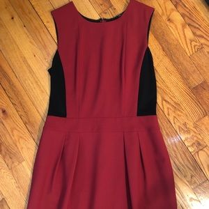 Color-block red and black Theory dress